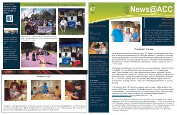 News@ACC August 2013 - Asnuntuck Community College
