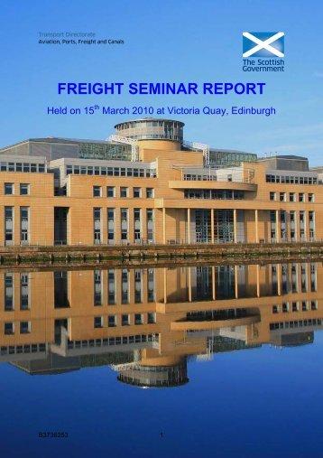 Freight seminar report - Transport Scotland