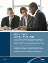 Protect Your International Sales – Export Development Canada - EDC