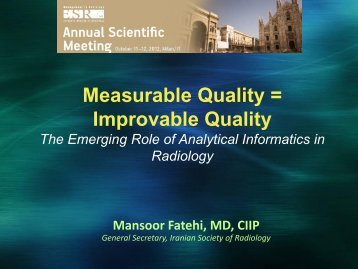 Measurable Quality = Improvable Quality - MIR-Online