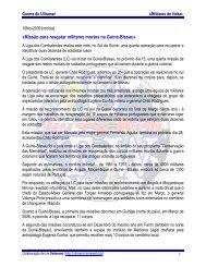«Missão para resgatar militares mortos na Guiné-Bissau» - Ultramar