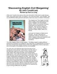 'Discovering English Civil Wargaming' book - Lone Warrior Blog