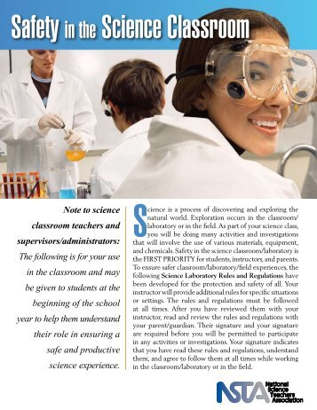 Safety in the Science Classroom - National Science Teachers ...
