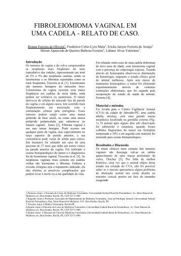 FIBROLEIOMIOMA VAGINAL EM UMA CADELA - RELATO DE CASO.