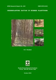 underplanting rattan in rubber planttions - Kerala Forest Research ...