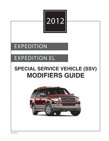 2012 Expedition SSV Modifiers Guide - MotorCraftService.com