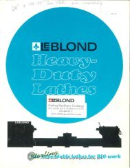Leblond Heavy Duty Lathe Brochure - Sterling Machinery
