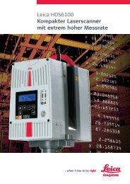 Leica HDS6100 Kompakter Laserscanner mit extrem hoher Messrate