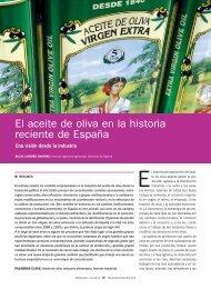 El aceite de oliva en la historia reciente de España - Mercasa