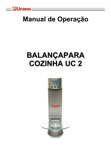 Manual da balança para cozinha UC 2 - Urano