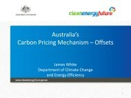 Use of Offsets in Emissions Trading - Australia