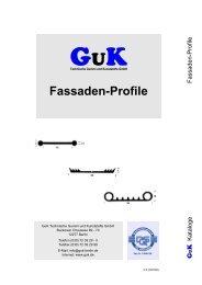 Fassaden-Profile - GuK Technische Gummi und Kunststoffe GmbH