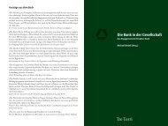 Die Bank in der Gesellschaft - Michael Wedell