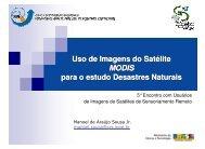 Uso de Imagens do Satélite MODIS para o estudo ... - INPE-DGI