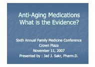 Anti-aging meds: What is the Evidence?