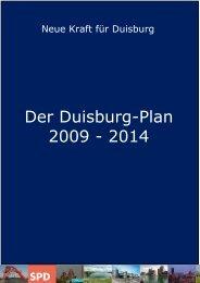 Der Duisburg-Plan 2009 - 2014 - SPD Duisburg
