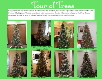 Every year a community member donates 30 artificial trees that ...
