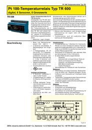 Pt 100-Temperaturrelais Typ TR 600 - drive-electric.hu