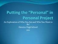 Putting the Personal In Personal Project_Presentation2
