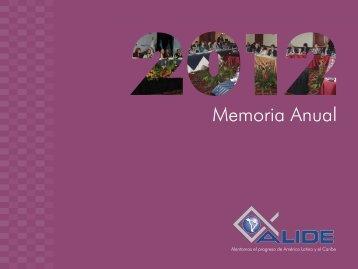 Memoria Anual - Alide