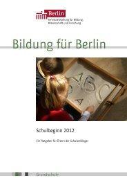 Schulbeginn 2012 - Berlin