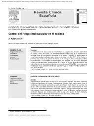 Control del riesgo cardiovascular en el anciano - Sociedad ...