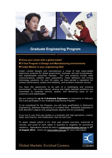 Graduate Engineering Program
