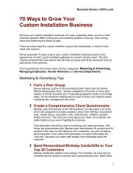 70 Ways to Grow Your Custom Installation Business - CE Pro