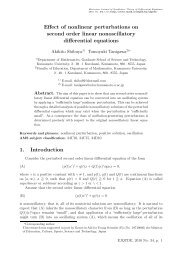 Effect of nonlinear perturbations on second order linear ...