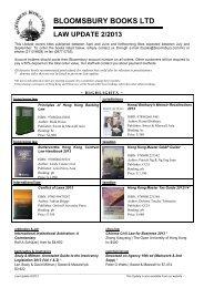bloomsbury books ltd law update 2/2013