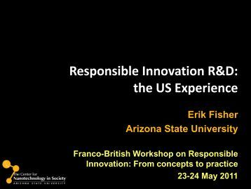 Responsible Innovation R&D - France in the United Kingdom
