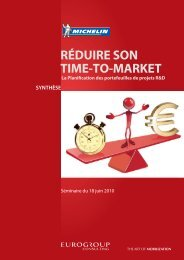 RÉDUIRE SON TIME-TO-MARKET - Eurogroup Consulting