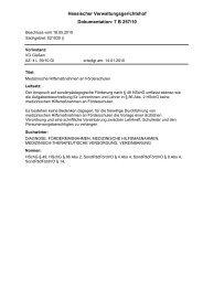 Dokumentation: 7 B 257/10 Hessischer Verwaltungsgerichtshof