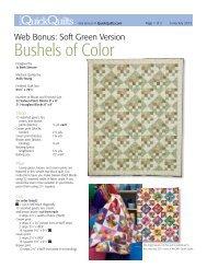 Bushels of Color - McCalls Quilting