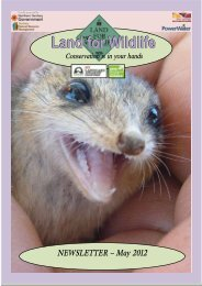 LfWnewsletter_May2012 (PDF 974 kB) - Land for Wildlife - Low ...