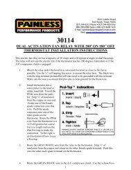 Dual Activation Electric Fan Relay Kit - Painless Wiring