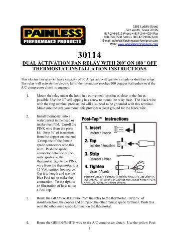 dual activation dual fan relay kit with painless wiring rh yumpu com