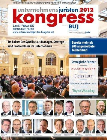 Im Fokus - Unternehmensjuristen-Kongress
