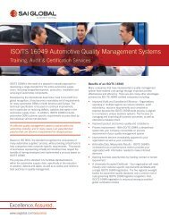 ISO/TS 16949 Automotive Quality Management Systems - SAI Global