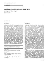 Functional foods/ingredients and dental caries - Springer