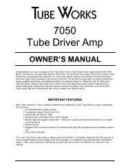 7050 Tube Driver Amp - Genz Benz