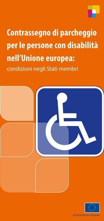 Contrassegno europeo di parcheggio per persone disabili