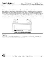 HP StorageWorks RDX Removable Disk Backup System - MgManager