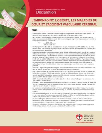 obtenir la version pdf - Fondation des maladies du coeur du Canada