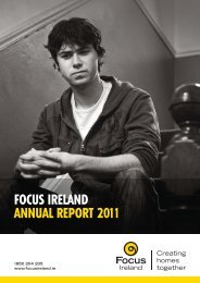 Download the 2011 Annual report here - Focus Ireland