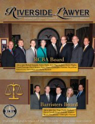 November 2007 - Riverside Lawyer Magazine - Riverside County ...