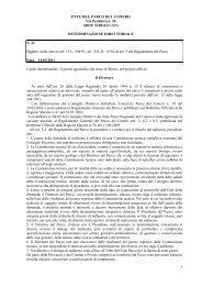 Leggi determina n. 21 - Il Parco del Conero