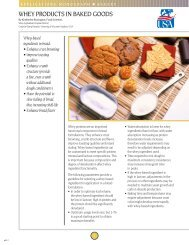 WHEY PRODUCTS IN BAKED GOODS - US Dairy Export Council
