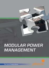 Phocos Modular Power Management Catalog 2009 - Solar Bazaar