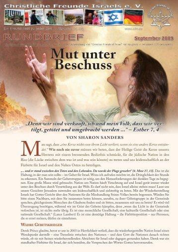 2009 September Mut unter Beschuss - Christliche Freunde Israels